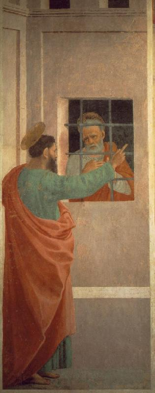 LIPPI, Filippino St Paul Visits St Peter in Prison dh oil painting image