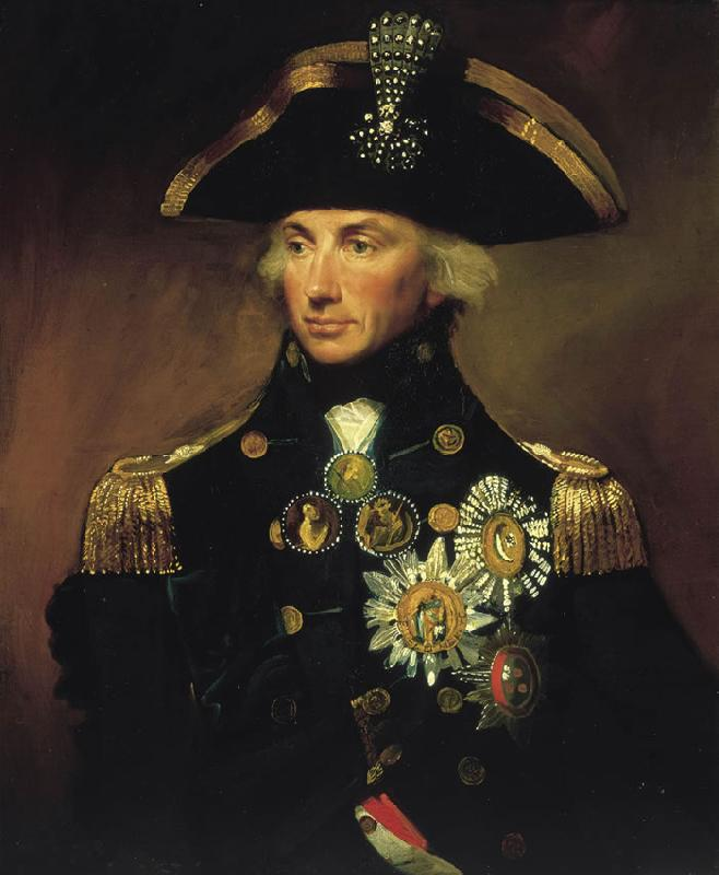 Lemuel Francis Abbott Rear-Admiral Sir Horatio Nelson oil painting image