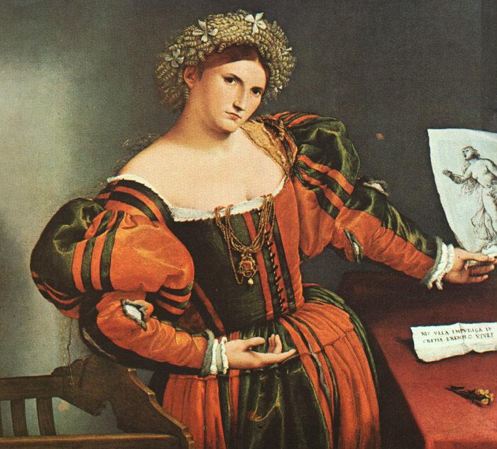 Lorenzo Lotto A Lady as Lucretia oil painting image