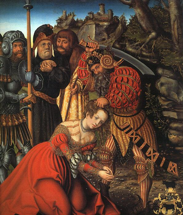 Lucas  Cranach The Martyrdom of St.Barbara oil painting image