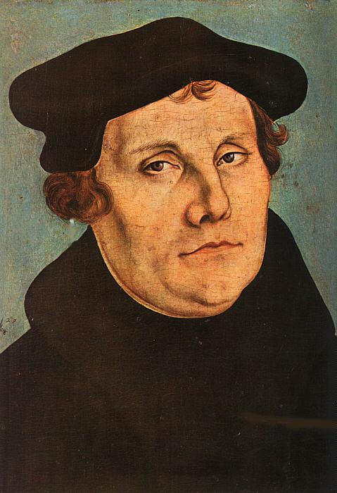 Lucas  Cranach Portrait of Martin Luther oil painting image