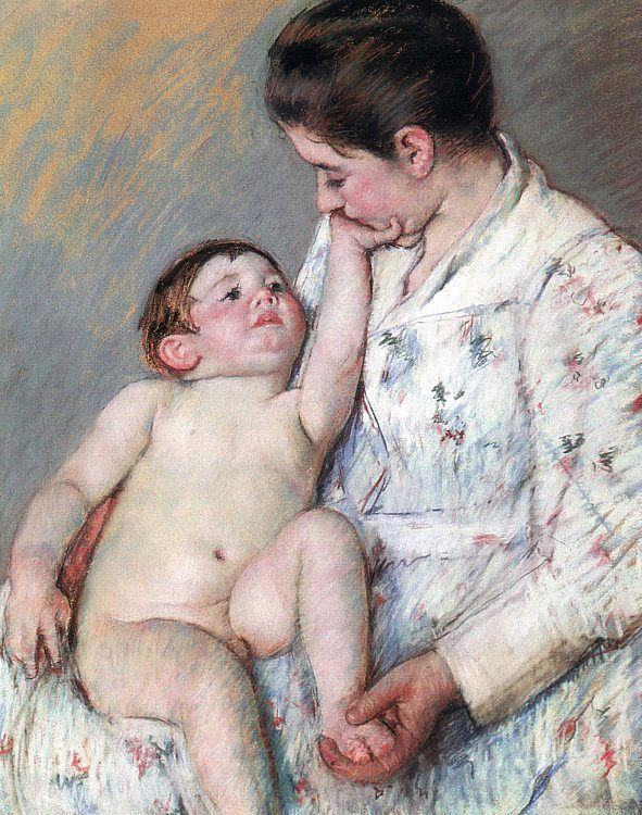 Mary Cassatt The Caress oil painting image
