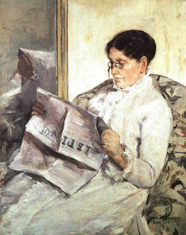 Mary Cassatt Reading Le Figaro oil painting image