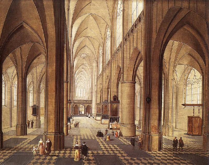 NEEFFS, Pieter the Elder Interior of a Church ag oil painting image