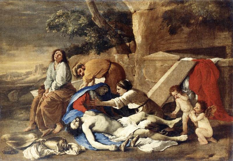 Nicolas Poussin Lamentation over the Body of Christ oil painting image