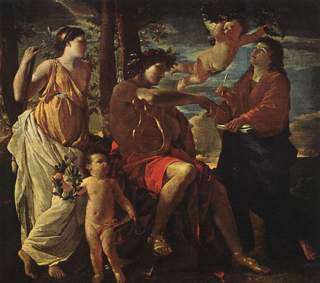Nicolas Poussin Inspiration of the Poet oil painting image