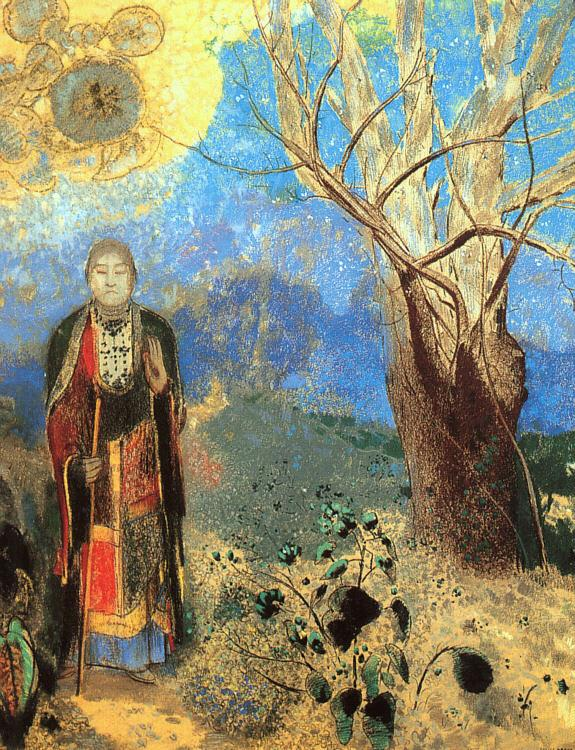 Odilon Redon The Buddha oil painting image