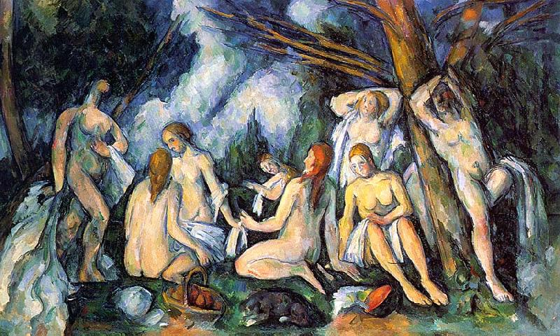 Paul Cezanne The Large Bathers oil painting image
