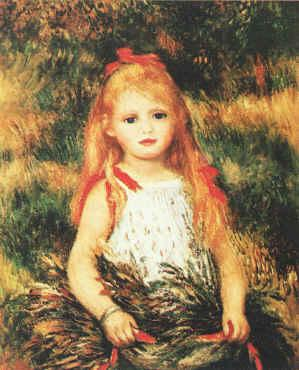 Pierre Renoir Girl with Sheaf of Corn oil painting picture
