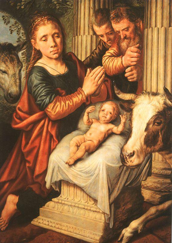 Pieter Aertsen The Adoration of the Shepherds oil painting image
