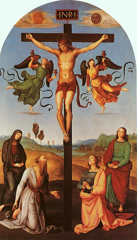 Raphael Christ on the Cross with the Virgin, Saint Jerome, Mary Magdalene and John the Baptist oil painting image