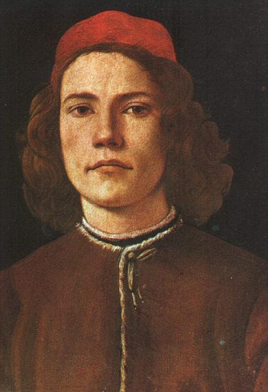 Sandro Botticelli Portrait of a Young Man_b oil painting image