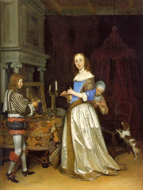 TERBORCH, Gerard Lady at her Toilette atf oil painting image