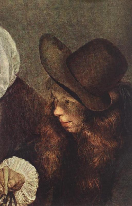 TERBORCH, Gerard The Glass of Lemonade (detail) t oil painting image