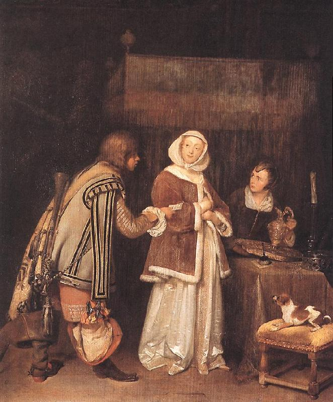 TERBORCH, Gerard The Letter dh oil painting image