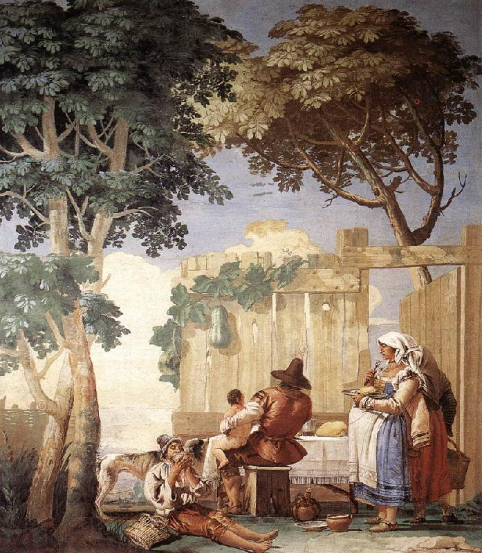 TIEPOLO, Giovanni Domenico Family Meal  kjh oil painting image