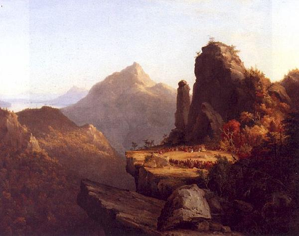 Thomas Cole Scene from The Last of the Mohicans oil painting image