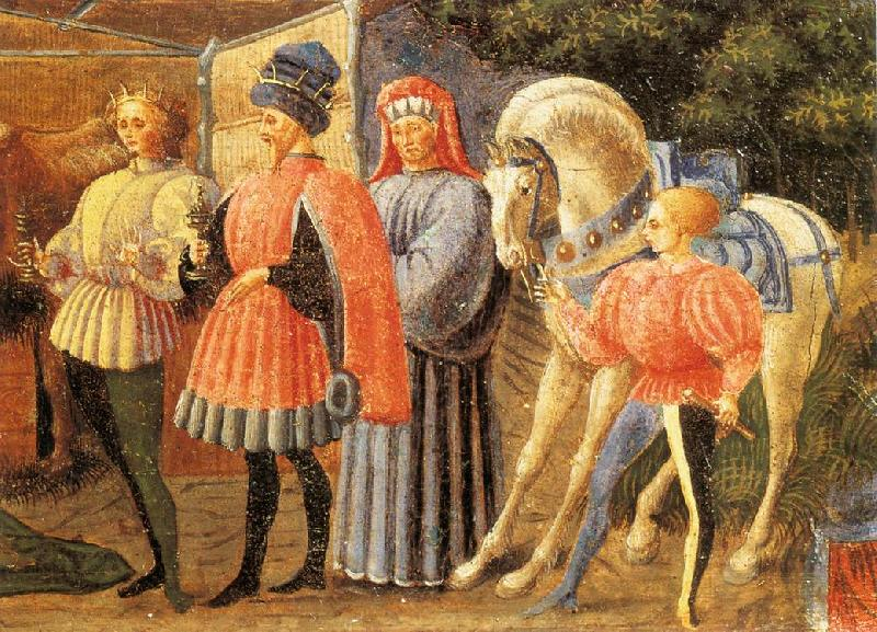 UCCELLO, Paolo Adoration of the Magi (Quarate predella, detail) qt oil painting image