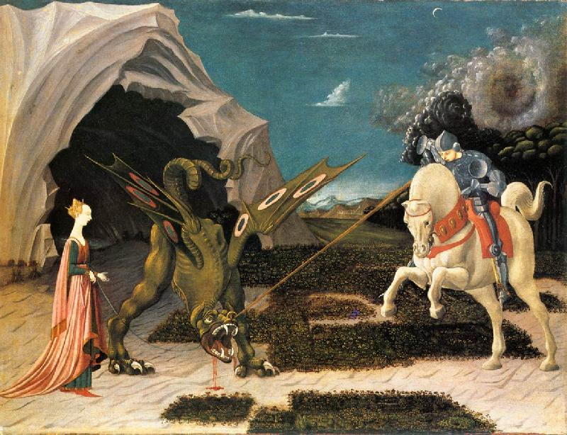 UCCELLO, Paolo St. George and the Dragon at oil painting image