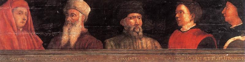 UCCELLO, Paolo Five Famous Men er oil painting image