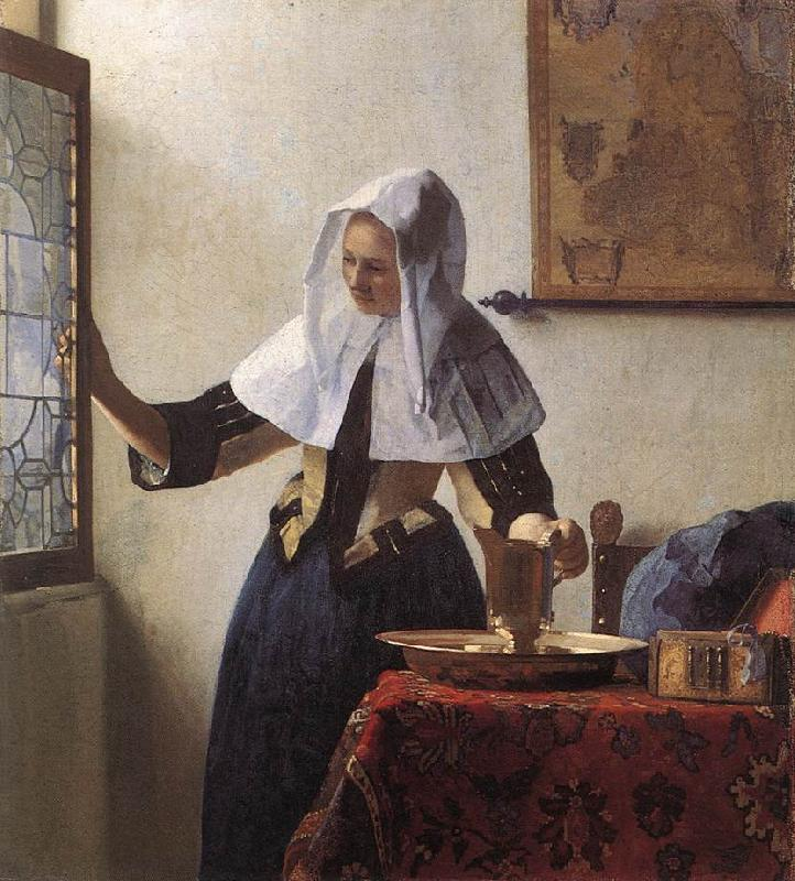 VERMEER VAN DELFT, Jan Young Woman with a Water Jug wer oil painting image