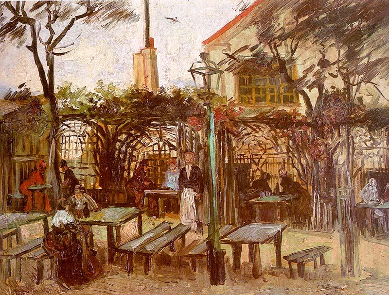 Vincent Van Gogh Terrace of the Cafe on Montmartre oil painting picture