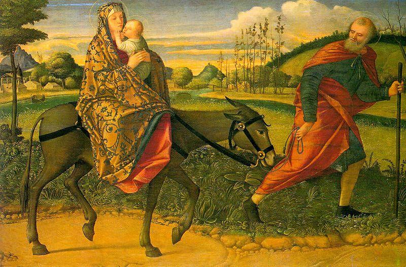 Vittore Carpaccio The Flight into Egypt oil painting image