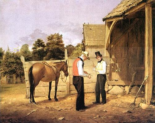 William Sidney Mount horse dealers oil painting image