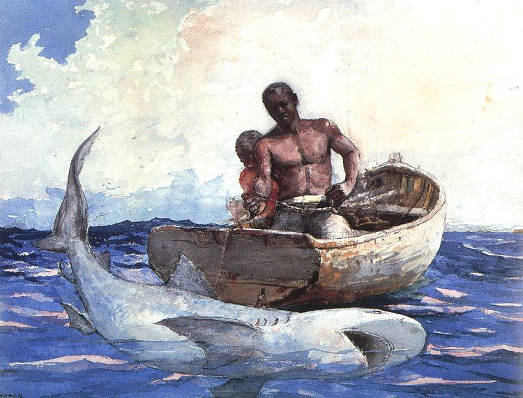 Winslow Homer Shark Fishing oil painting image