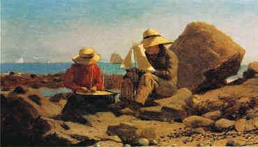 Winslow Homer The Boat Builders oil painting image