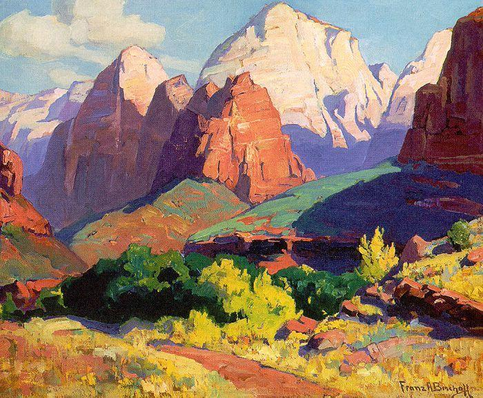 Bischoff, Franz Pinnacle Rock w oil painting image