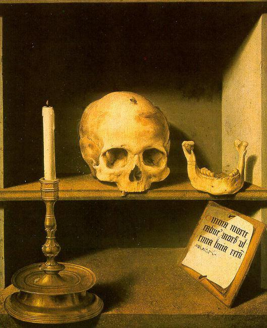 Bruyn, Barthel the Elder Vanitas still life from the reverse of oil painting image