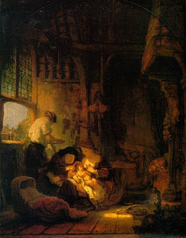 REMBRANDT Harmenszoon van Rijn Holy Family oil painting image