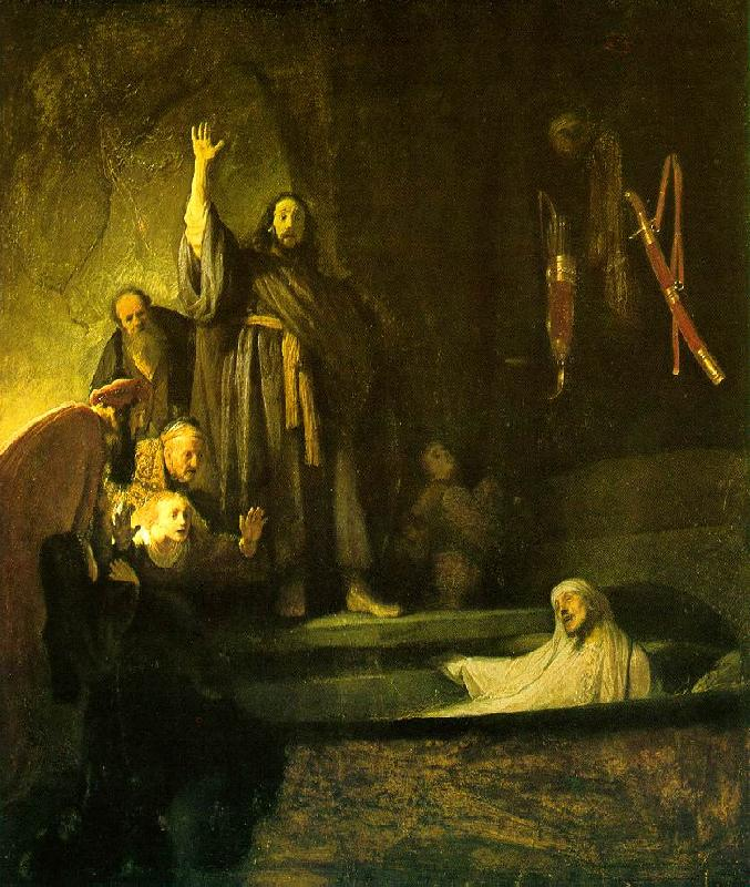 REMBRANDT Harmenszoon van Rijn The Raising of Lazarus oil painting image