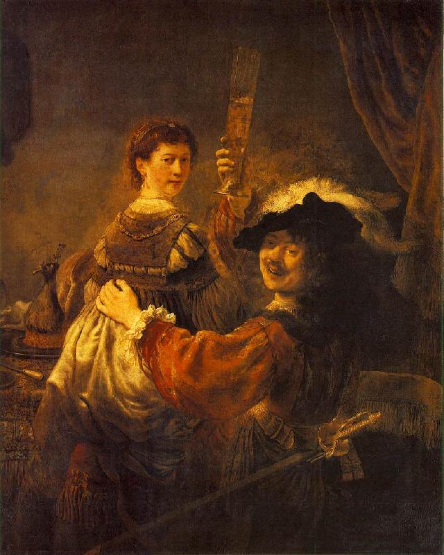 REMBRANDT Harmenszoon van Rijn Rembrandt and Saskia in the Scene of the Prodigal Son in the Tavern dh oil painting image
