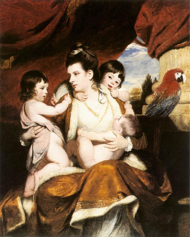 REYNOLDS, Sir Joshua Lady Cockburn and her Three Eldest Sons dy oil painting image