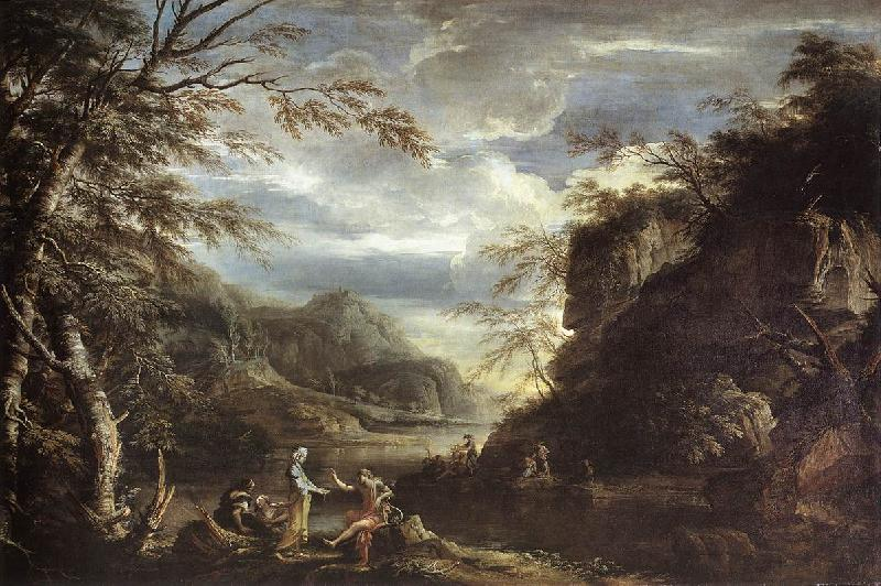 ROSA, Salvator River Landscape with Apollo and the Cumean Sibyl  gq oil painting image