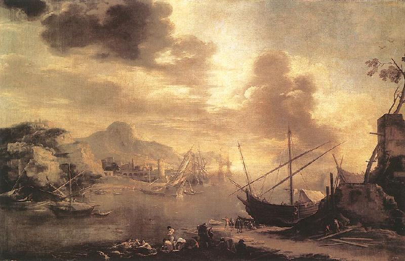 ROSA, Salvator View of the Gulf of Salerno oil painting image