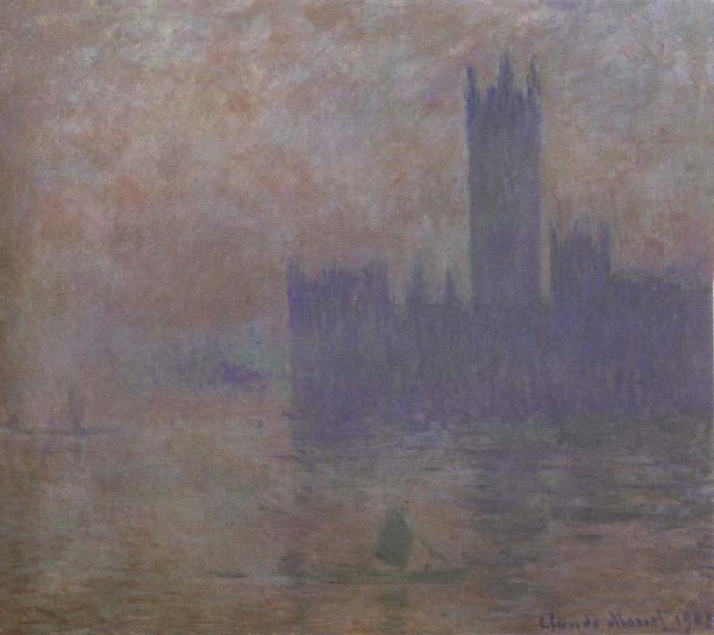 Claude Monet Houses of Parliament,Fog Effect oil painting picture