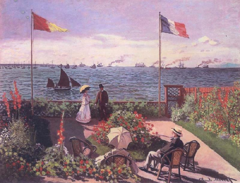 Claude Monet Terrace at Sainte-Adresse oil painting picture