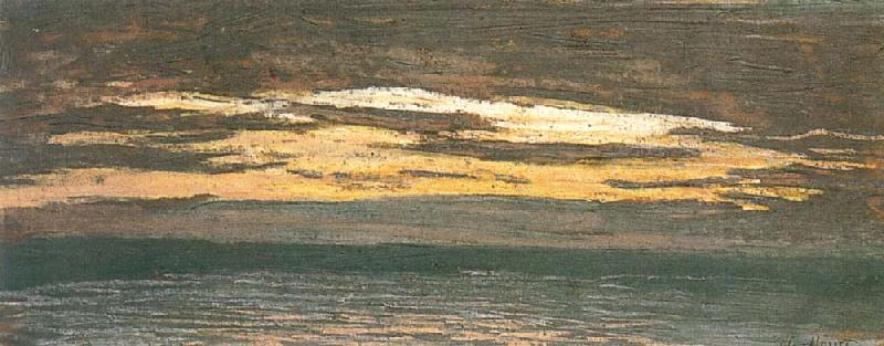 Claude Monet Sun Setting over the Sea oil painting picture
