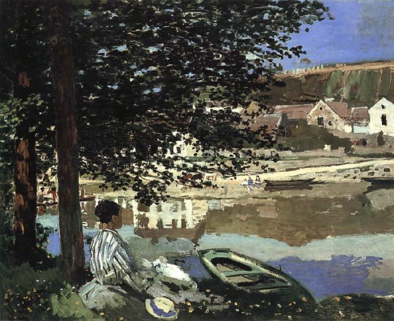 Claude Monet River Scene at Bennecourt oil painting picture