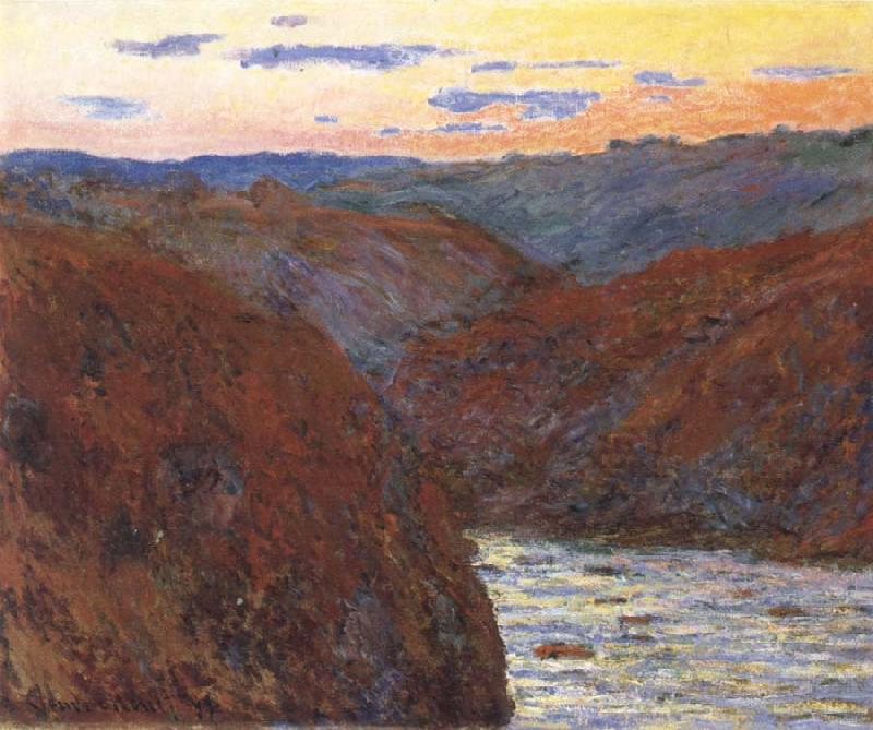 Claude Monet The Creuse,Sunset oil painting picture