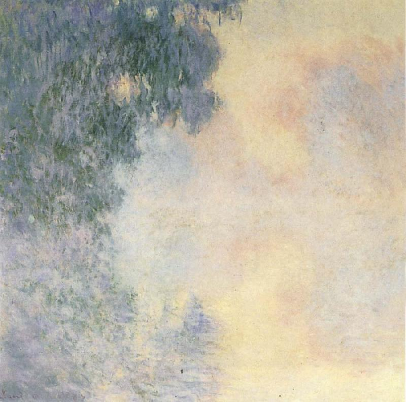 Claude Monet Arm of  the Seine near Giverny in the Fog oil painting picture