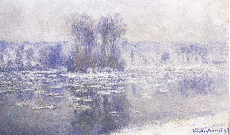 Claude Monet Floes at Bennecourt oil painting picture