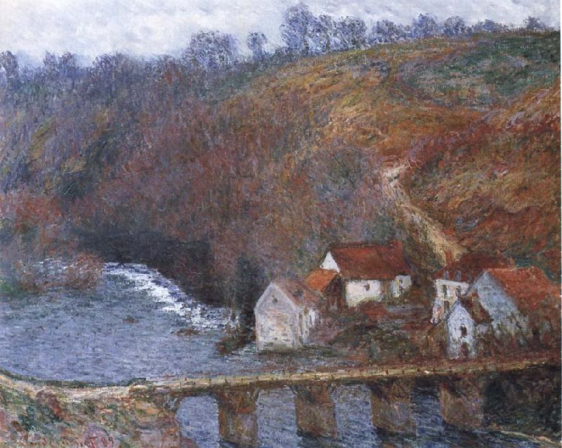 Claude Monet The Grande Creuse by the Bridge at Vervy oil painting picture