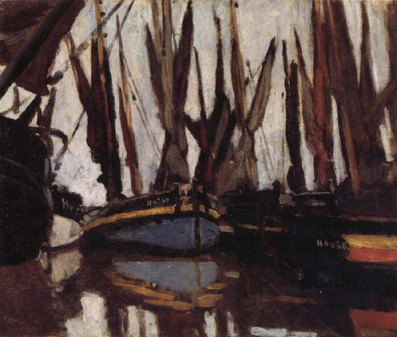 Claude Monet Fishing Boats oil painting picture