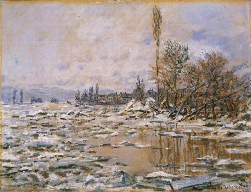 Claude Monet Breakup of Ice,Grey Weather oil painting picture