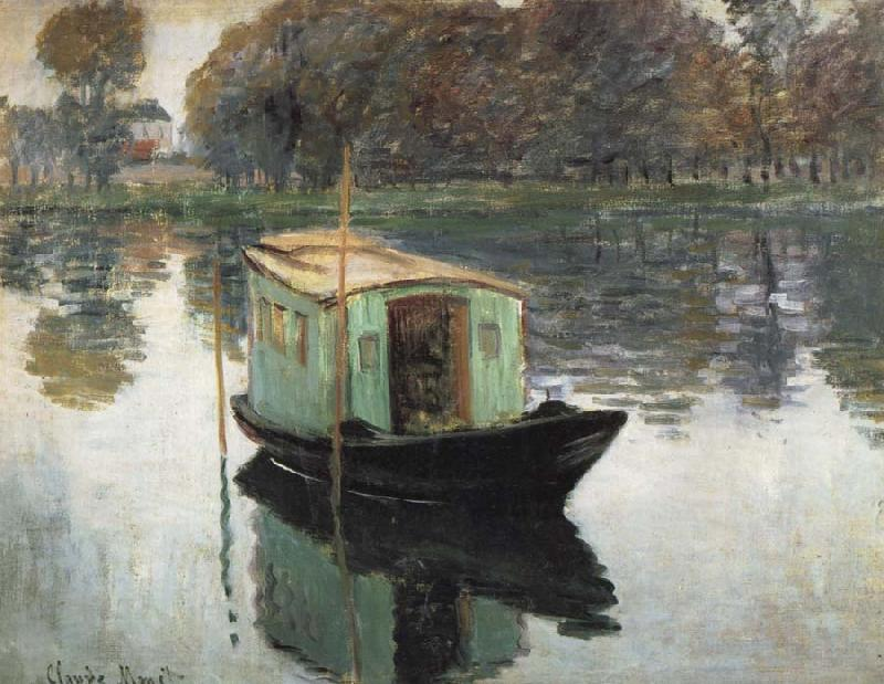 Claude Monet The Studio Boat oil painting picture