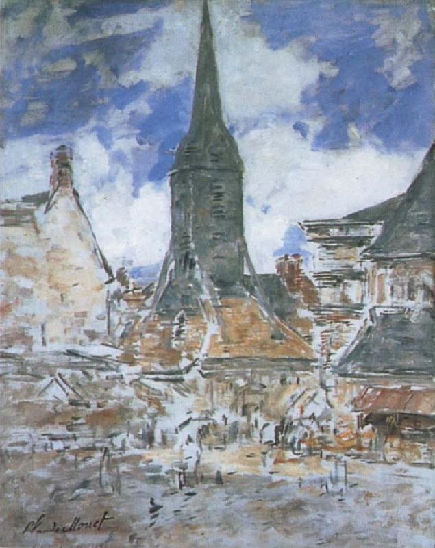 Claude Monet The Bell-Tower of Saint-Catherine at Honfleur oil painting picture